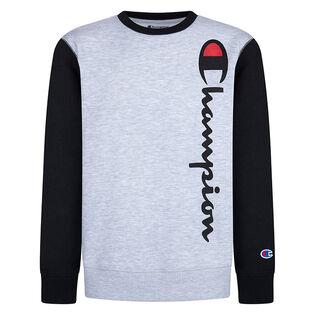 Junior Boys' [8-16] Script Fleece Crew Sweatshirt
