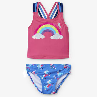 Girls' [2-6] Rainbow Unicorns Sporty Two-Piece Tankini