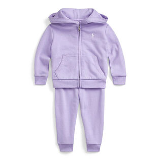 Baby Girls' [3-24M] French Terry Hoodie + Pant Two-Piece Set