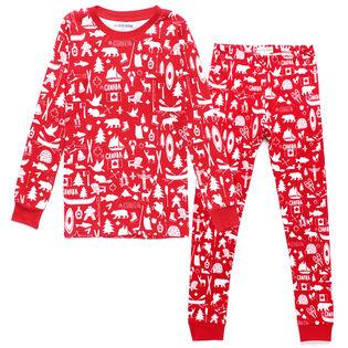 Kids' [2-10] Oh Canada Two-Piece Pajama Set
