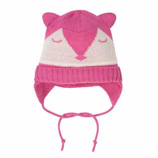 Tuque Origami en tricot pour bébés filles [9-24M]