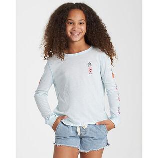 Junior Girls' [7-14] Hearts N Pineapples LS T-Shirt