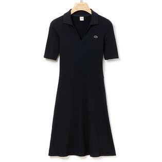 Women's Cotton-Blend Polo Dress
