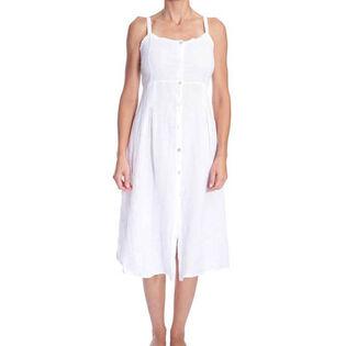 Women's Button Front Midi Dress
