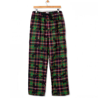 Men's Plaid Moose Flannel Pant