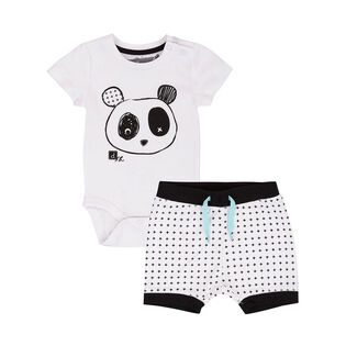 Baby Boys' [6-24M] Whole Wheat Two-Piece Short Set