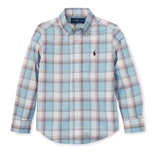 Boys' [2-4] Plaid Cotton Poplin Shirt