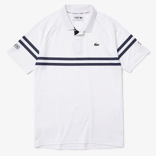 Men's Novak Djokovic Striped Polo