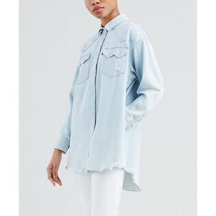 Women's Oversized Sawtooth Western Shirt