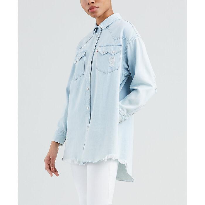 d291d18405 Women s Oversized Sawtooth Western Shirt