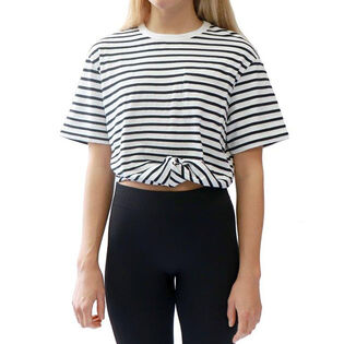 Women's Striped Knot Pocket T-Shirt