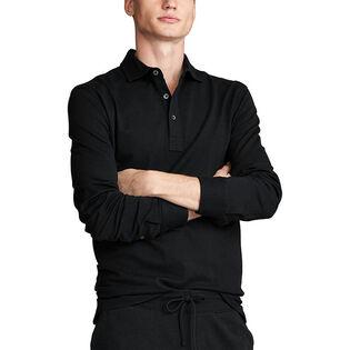Polo en maille extensible à coupe étroite pour hommes