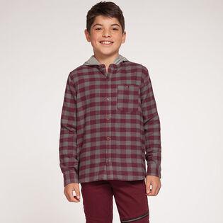 Junior Boys' [8-16] Hooded Flannel Shirt