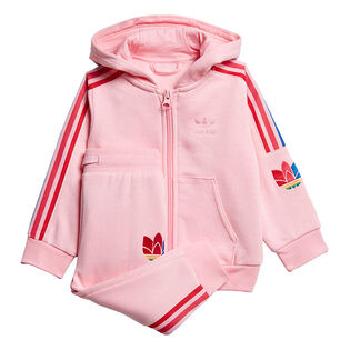 Baby Girls' [6M-3Y] Adicolor 3D Trefoil Hoodie Two-Piece Set