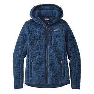 Women's Retro Pile Hoody Fleece Jacket