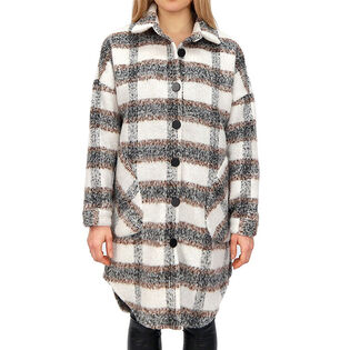 Women's Plaid Button-Up Shirt Jacket