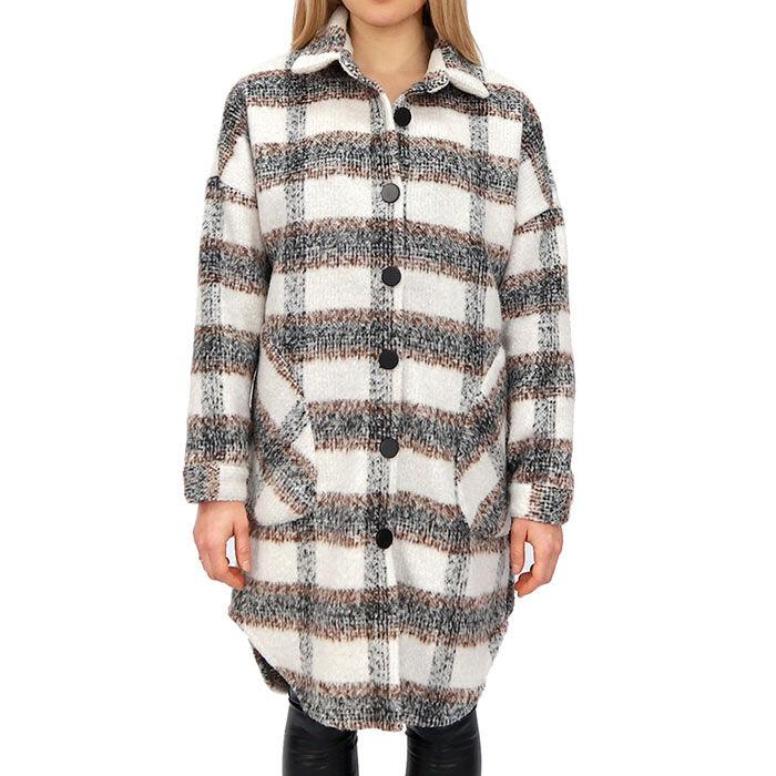 Women's Plaid Button-Up Shirt Jacket