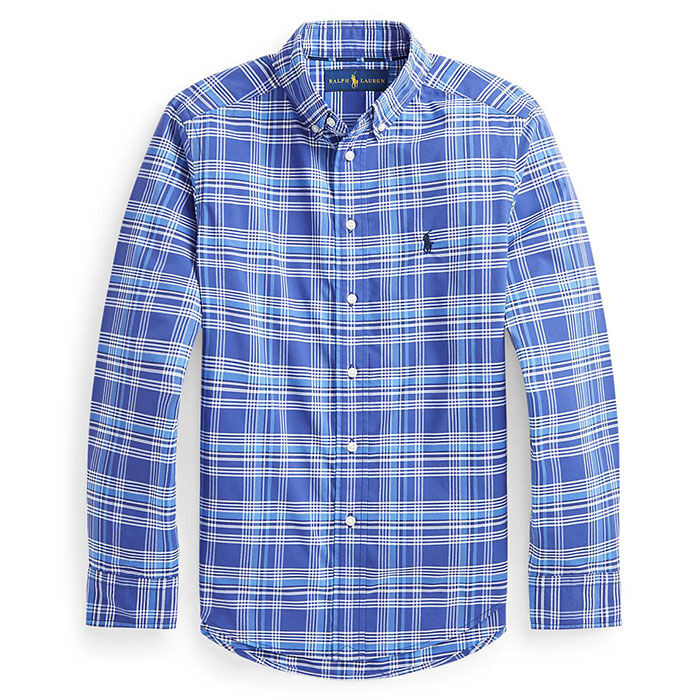 Chemise à carreaux en popeline de performance pour garçons [5-7]
