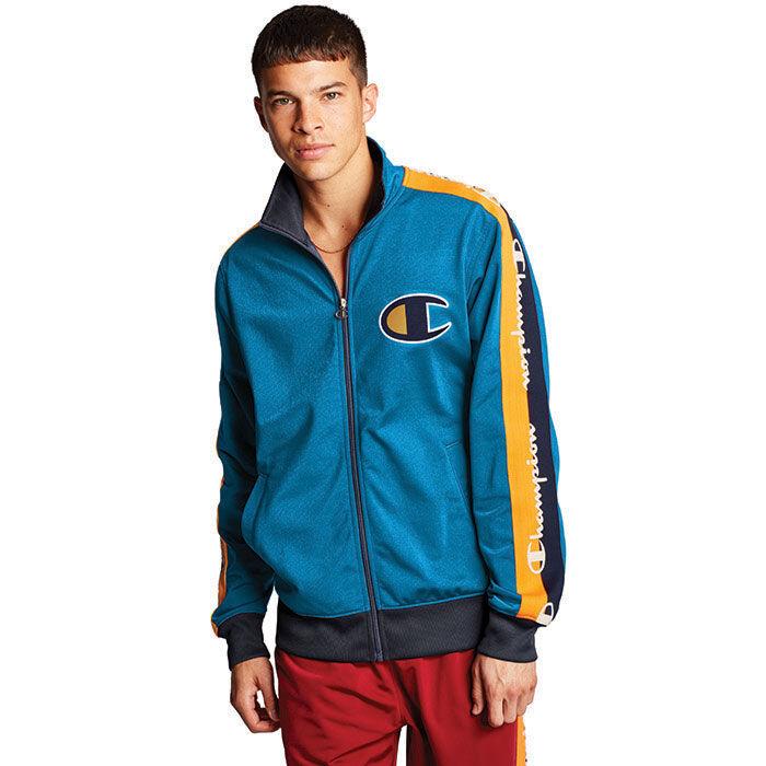 Men's Big C & Logo Tape Track Jacket