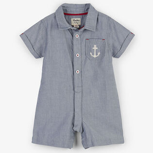 Baby Boys' [3-24M] Chambray Anchor Woven Romper