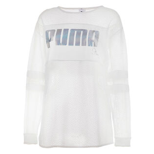 Women's Mesh Long Sleeve Top