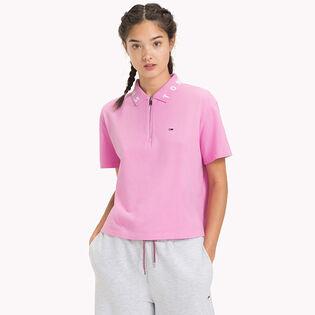 Women's Logo Collar Cropped Polo