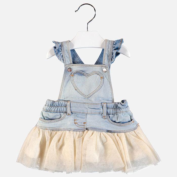 Robe salopette à tulle pour bébés filles [0-18M]