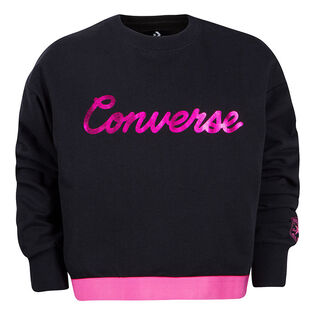 Girls' [4-6X] Script Cropped Crew Sweatshirt
