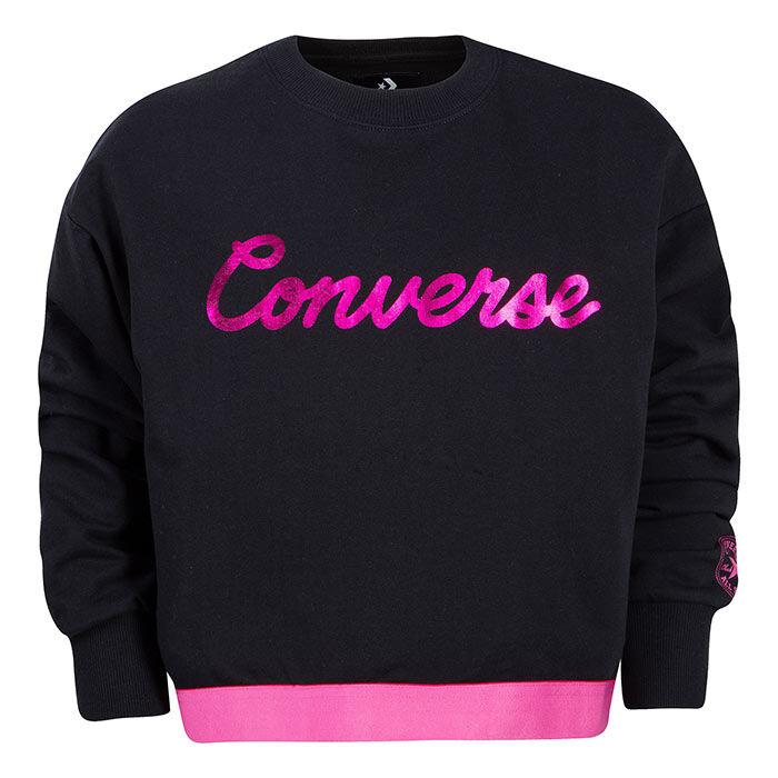 Girls' [4-6X] Script Cropped Crew Sweatshirt