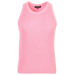 Débardeur en tricot de mailles perlée pour femmes
