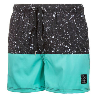 Men's Splatter Block Swim Trunk