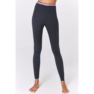Women's Saya Striped Waist Active Tight