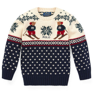 Boys' [5-7] Ski Bear Sweater