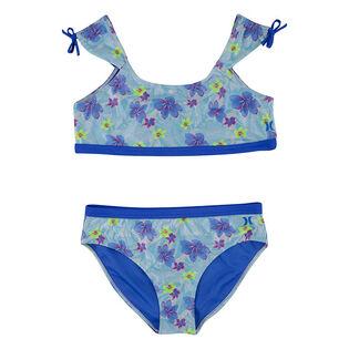 Junior Girls' [7-16] Floral Cap Sleeve Two-Piece Bikini