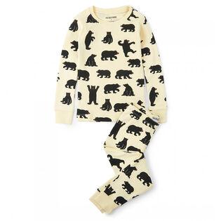 Juniors' [2-10] Black Bears Two-Piece Pajama Set