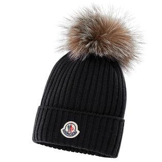Juniors' [8-14] Fur Pom Hat
