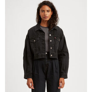 Women's Pleated Trucker Jacket