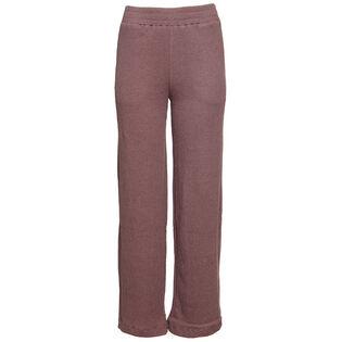 Pantalon en tricot gaufré à jambe large pour femmes