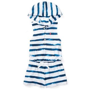 Girls' [5-6X] Striped Cotton Jersey Romper