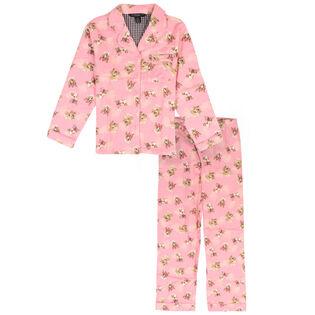 Ensemble pyjama deux pièces Flower Animal pour filles juniors