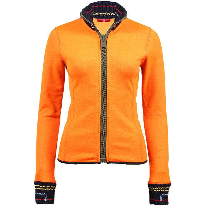 Women's Knit Trim Full-Zip Sweater