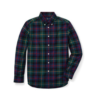 Junior Boys' [8-20] Plaid Cotton Poplin Shirt
