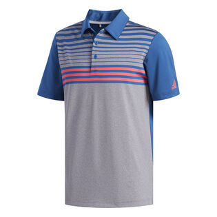 Men's Ultimate365 3-Stripes Heathered Polo