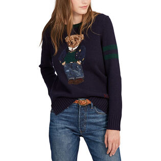 Women's Polo Bear Wool-Blend Sweater