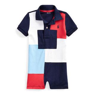 Baby Boys' [3-24M] Patchwork Cotton Polo Shortall