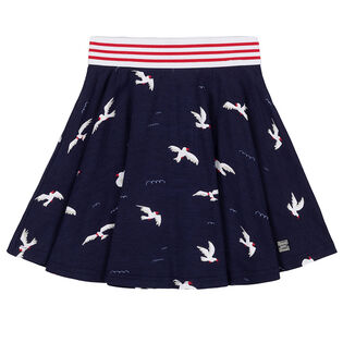 Girls' [3-6] Printed Seagulls Skirt