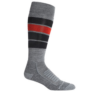 Men's Ski+ Medium Over-The-Calf Heritage Stripe Sock