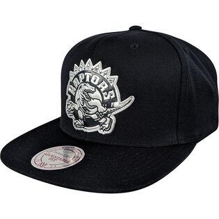 Men's Toronto Raptors Black + Silver Snapback Hat