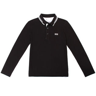 Junior Boys' [4-16] Pique Long Sleeve Polo