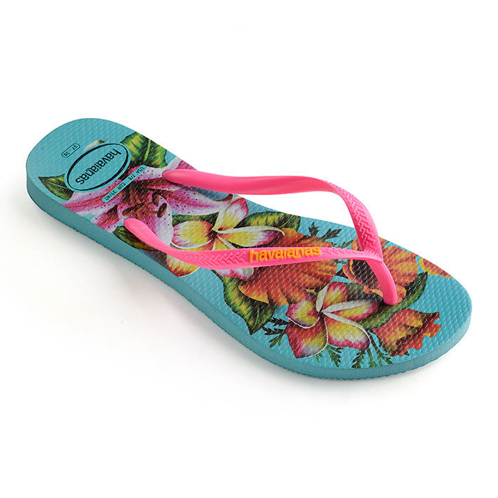 Women's Slim Floral Flip Flop Sandal